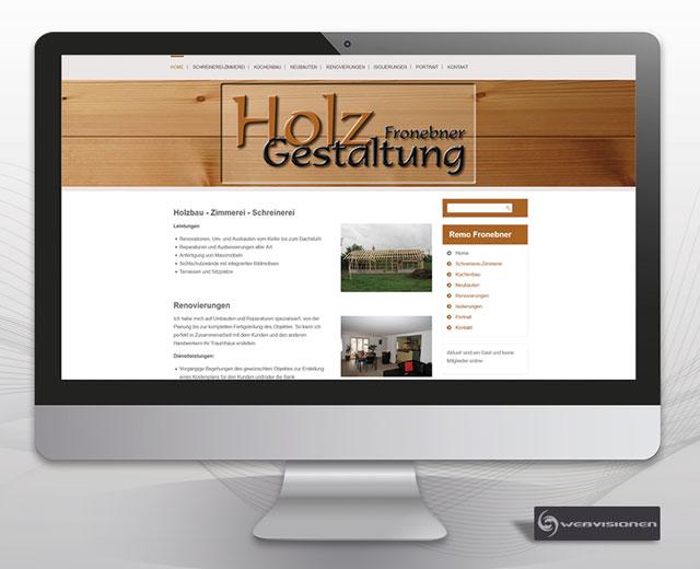 Holzgestaltung Fronebner
